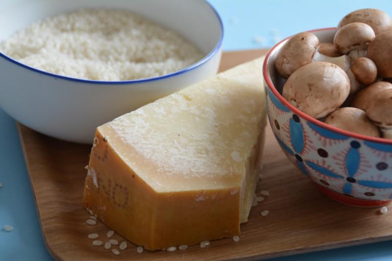 Ingrédients de la recette du risotto
