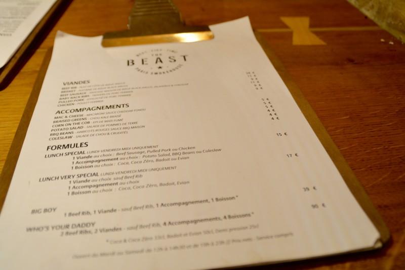 The Beast - Large choix de viandes BBQ et d'accompagnements classiques des USA