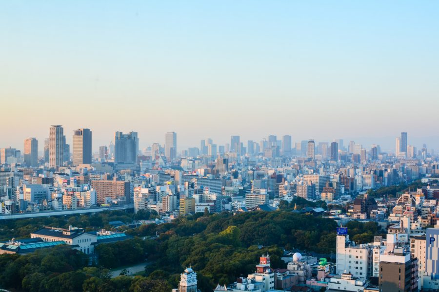 Vue sur Osaka depuis la tour Abeno Harukas